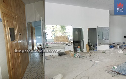 Cung cấp hệ thống phòng xông hơi cho phòng Gym - Khu Trung Sơn Quận 8